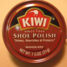 Kiwi Shoe Boot Polish Shine Leather Paste Protector 1 1/8 oz. Can Mahogany Color