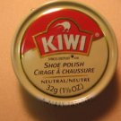 Kiwi Shoe Boot Polish Shine Leather Paste Protector 1 1/8 oz. Can Nertral Color