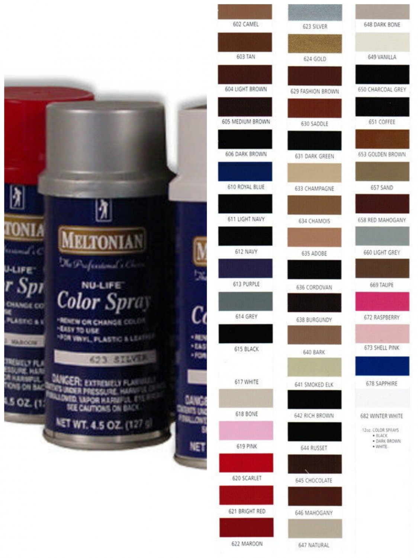 (5x) Meltonian Nu-Life Chamois Color Spray Shoes Boots Leather Vinyl 4.5 oz Nu Life lot