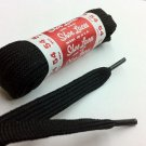 Athletic Flat Shoelaces Sport Sneakers Shoe Strings Boot Laces Bulldog Blister Black Color 45""