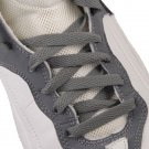 """Athletic Flat Shoelaces Sport Sneakers Shoe Strings Boot Laces Bulldog Blister Grey Color 45"""""""