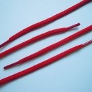 """(1 Pair) Athletic Round Shoe Laces Shoelaces Sport Sneakers Boots Strings 3/16"""" Red Color 54"""" Size"""