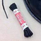 (2 Pairs) Thin Round Dress Shoe Boot Laces Cotton Shoelaces Non-Waxed Black color 24""