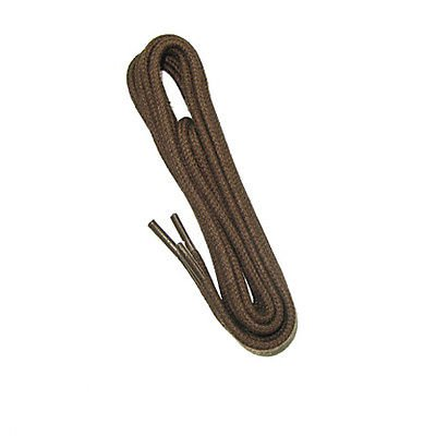 (2 Pairs) Thin Round Dress Shoe Boot Laces Cotton Shoelaces Non-Waxed Brown color 24""