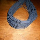 "(1 Pair) 72"" Length x1/8"" Width Rawhide Leather Shoe Boot Laces Shoelaces Navy Blue Color"