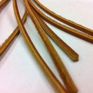 "(1 Pair) 40"" Rawhide Leather Shoe Boot Laces Shoelaces 1/8"" Width Timberland Golden Tan Color"
