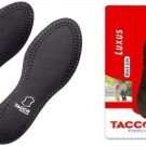 TACCO 713 Luxus Black Orthotic Arch Support Full Leather Shoe Insoles Inserts Men's 10