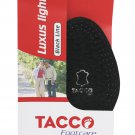 TACCO 715 Black Luxus Light Orthotic Shoe Support Cushions Leather Insoles Medium Size