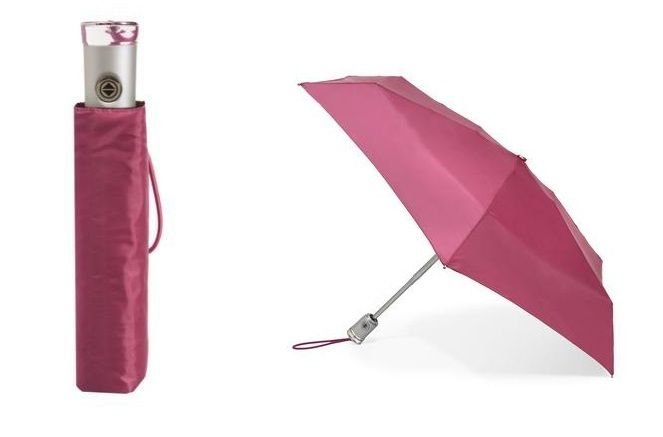 Magenta Pink Totes 8603 Signature Auto Push Open/Close Micro 'Bella Umbrella