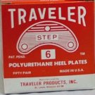 Traveler Step Heel Toe Plates Taps Plastic Non Self Adhesive 100 Pairs Clear Color 4 SIze