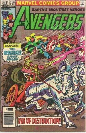 THE AVENGERS ISSUE 208 MARVEL COMICS