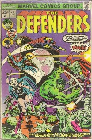 DEFENDERS ISSUE 29 MARVEL COMICS