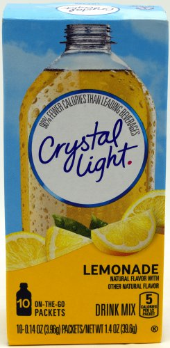 10 10-Packet Boxes Crystal Light Natural Lemonade On The Go Drink Mix