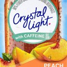 10 10-Packet Boxes Crystal Light Peach Mango With Caffeine On The Go Drink Mix