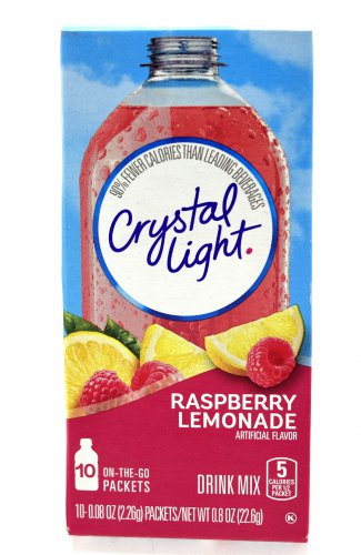 10 10-Packet Boxes Crystal Light Raspberry Lemonade On The Go Drink Mix