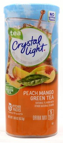 6 10-Quart Canisters Crystal Light Peach Mango Green Tea Drink Mix