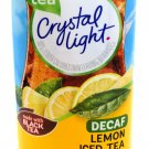 6 12-Quart Canisters Crystal Light Decaf Lemon Iced Tea Natural Flavor Drink Mix