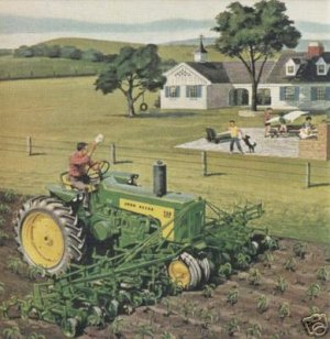 John Deere Model 730 cultivating  Jigsaw Puzzle