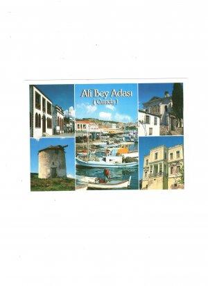 new postcard ali bey adasi (cunda)