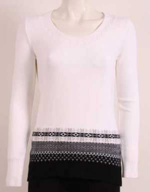 new knitted blouses / color: white