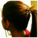 Hair Accessories- Gold Spiked Pony Holder