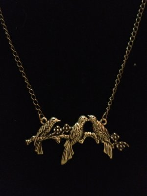 Necklace- Antique Brass French Chains and lobster clasp with Antique brass Bird finding