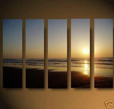 """Modern seascape OIL PAINTING """"ocean sunrise"""" 705"""