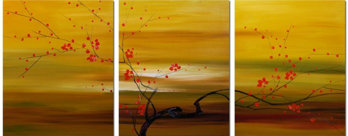 "Modern flower oil painting on Canvas ""tree""004"