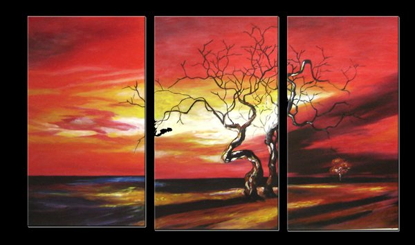 "Modern flower oil painting on Canvas ""tree010"""