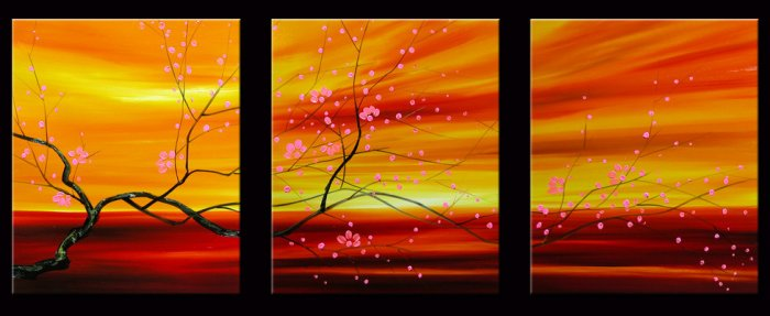 "Modern flower oil painting on Canvas ""tree013"""