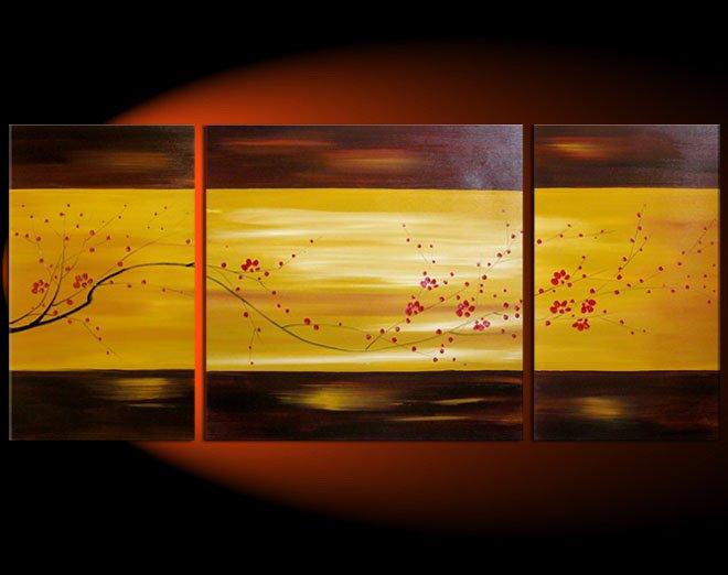 "Modern flower oil painting on Canvas""tree022"""