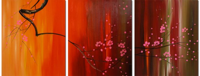 "Modern flower oil painting on Canvas""Thee024"""