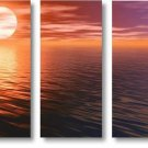 "Modern seascape oil painting on Canvas""sunglow031"""