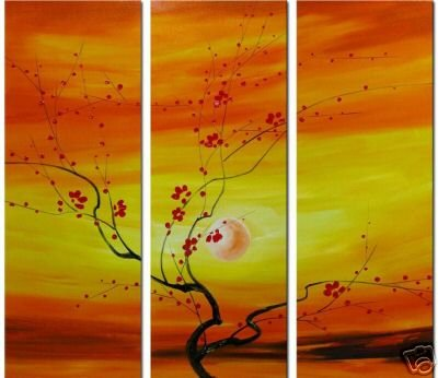 "Modern flower oil painting on Canvas ""tree"" 035"