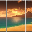 Modern seascape oil paintings on Canvas sunglow 056