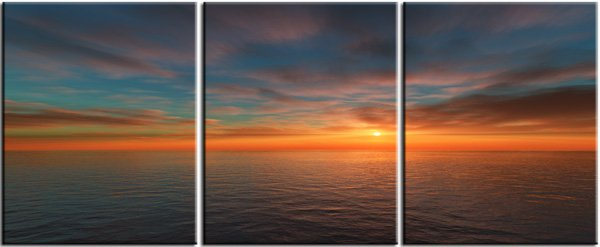 Modern seascape oil paintings on Canvas sunglow 057