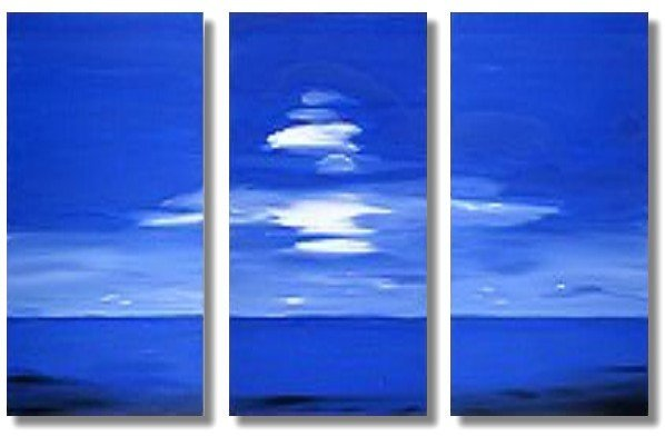 Modern seascape oil paintings on Canvas Illusion 186