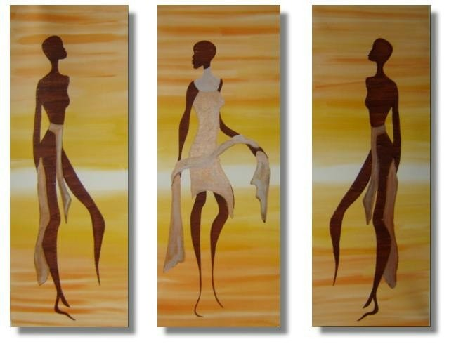 Modern portrait oil paintings on Canvas African girls 220