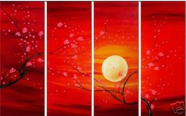 "Modern flower oil painting on Canvas ""Illusion 033"""