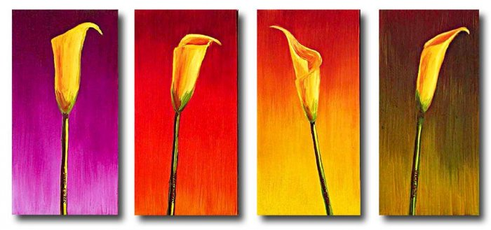"Modern flower oil painting on Canvas ""flowers091"""