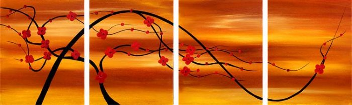 "Modern flower oil painting on Canvas ""Illusion 098"""