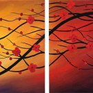 "Modern flower oil painting on Canvas ""Illusion 101"""