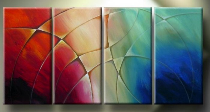 "Modern Abstract oil painting on Canvas ""Illusion 135"""