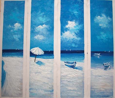"Modern seascape oil painting on Canvas ""Illusion 178"""