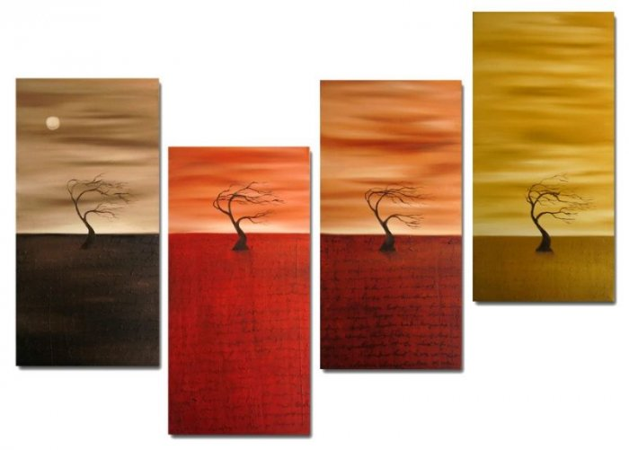 "Modern oil painting on Canvas  tree painting ""tree""254"
