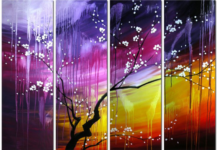 """Modern flower oil painting on Canvas """"Illusion 284"""""""