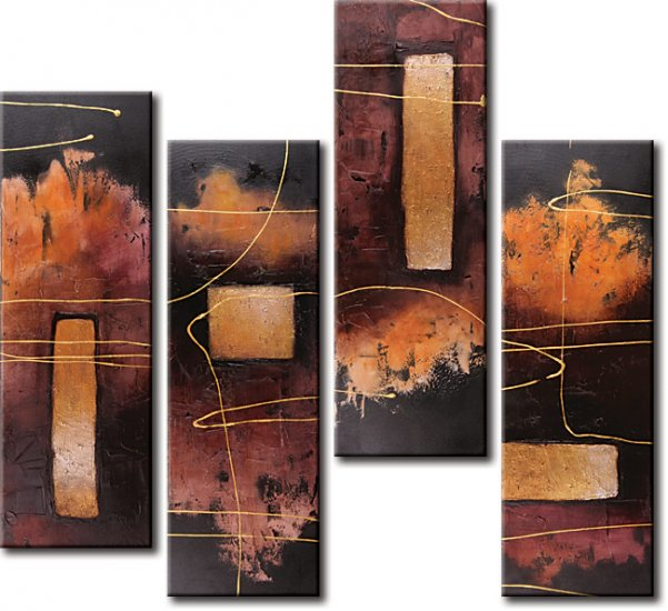 """Modern Abstract oil painting on Canvas """"Illusion 350"""""""