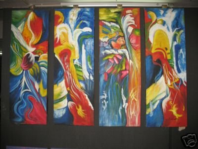 """Dafen Modern Abstract oil painting on Canvas """"Illusion 470"""""""