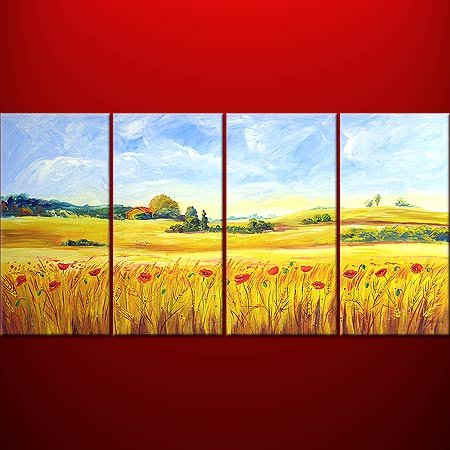 """Dafen Modern Abstract oil painting on Canvas """"Illusion 434"""""""