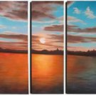 "Dafen Modern seascape oil painting on Canvas""sunglow226"""
